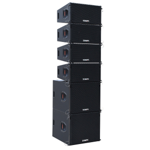 "LB-210 & LB-18BS Dual 10"" two way line array speaker set"