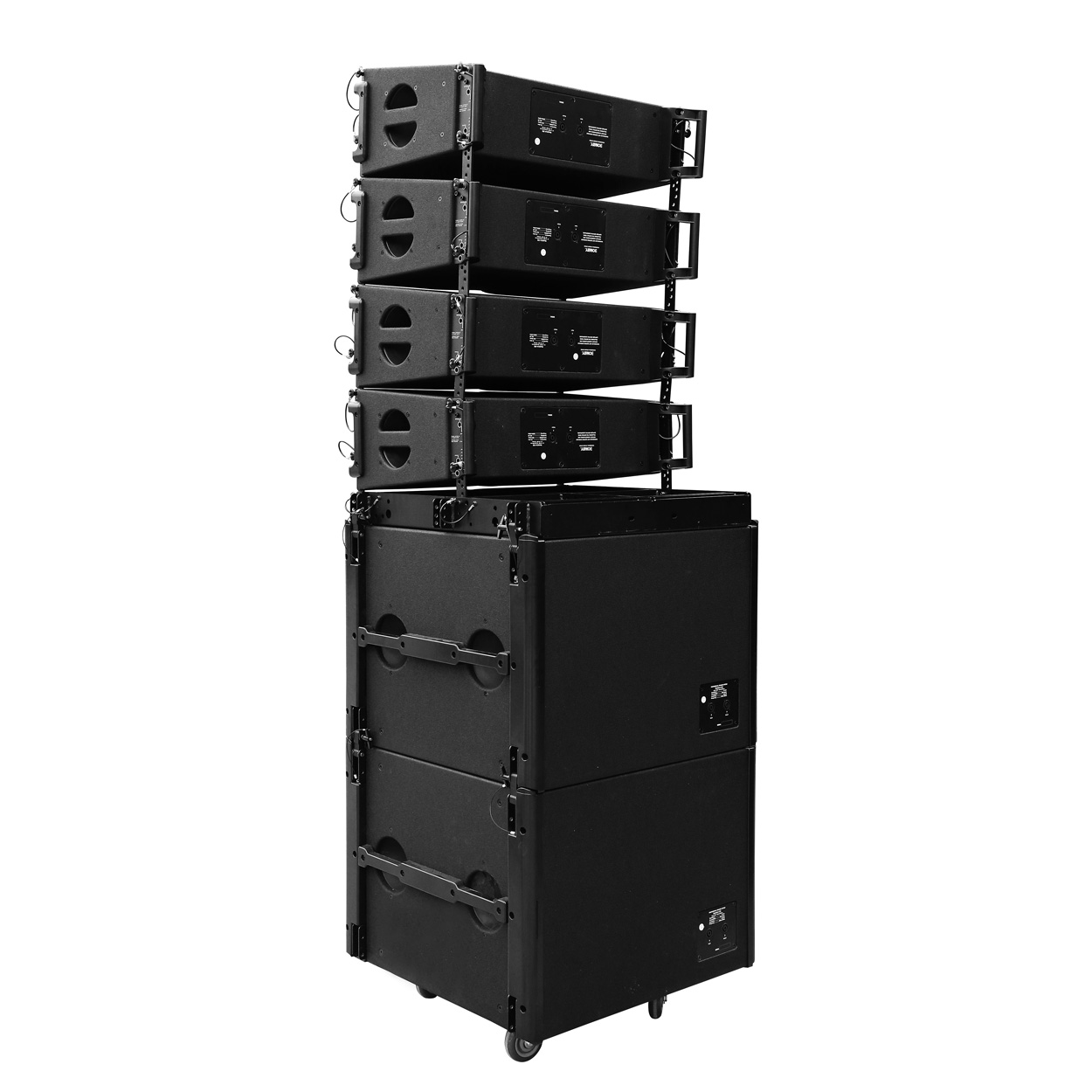 "LA-208 & LA-118 Dual 8"" two way line array speaker set"